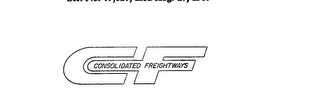 mark for CF CONSOLIDATED FREIGHTWAYS, trademark #72079627