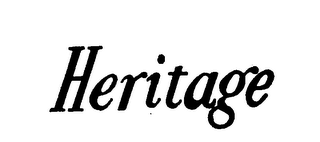 mark for HERITAGE, trademark #72098034