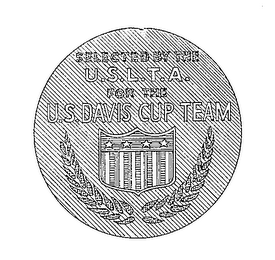 mark for SELECTED BY THE U.S.L.T.A. FOR THE U.S. DAVIS CUP TEAM, trademark #72297111