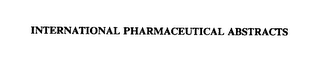 mark for INTERNATIONAL PHARMACEUTICAL ABSTRACTS, trademark #72323219