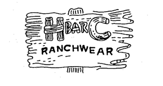 mark for H BAR C RANCHWEAR, trademark #73037372
