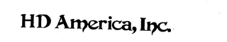 mark for HD AMERICA, INC., trademark #73403409