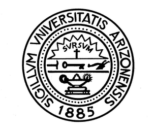 mark for SIGILLUM UNIVERSITATIS ARIZONENSIS 1885SURSUM, trademark #74090505