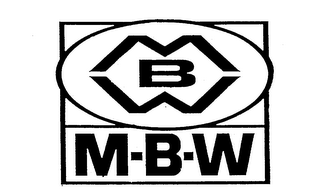 mark for M-B-W MBW, trademark #74097417