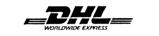 mark for DHL WORLDWIDE EXPRESS, trademark #74160536