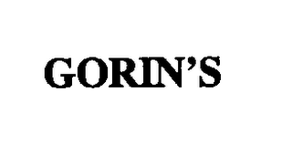 mark for GORIN'S, trademark #74288775