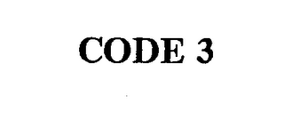 mark for CODE 3, trademark #74290858