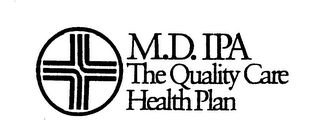 mark for M.D. IPA THE QUALITY CARE HEALTH PLAN, trademark #74292347