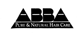 mark for ABBA PURE & NATURAL HAIR CARE, trademark #74317325