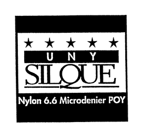 mark for UNY SILQUE NYLON 6.6 MICRODENIER POY, trademark #74337182