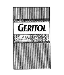 mark for GERITOL COMPLETE, trademark #74371146