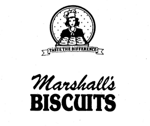 mark for MARSHALL'S BISCUITS TASTE THE DIFFERENCE, trademark #74407293