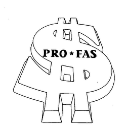 mark for PRO*FAS, trademark #74423471
