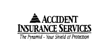mark for ACCIDENT INSURANCE SERVICES THE PYRAMID - YOUR SHIELD OF PROTECTION, trademark #74453303