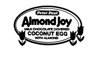 mark for PETER PAUL ALMOND JOY MILK CHOCOLATE COVERED COCONUT EGG WITH ALMOND, trademark #74462931