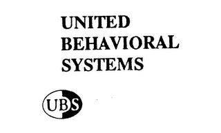 mark for UNITED BEHAVIORAL SYSTEMS UBS, trademark #74535115
