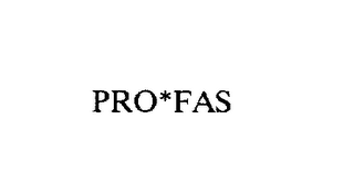 mark for PRO*FAS, trademark #74601551