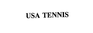 mark for USA TENNIS, trademark #75019044