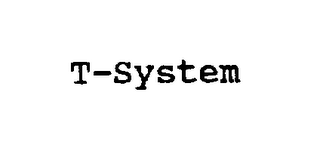 mark for T-SYSTEM, trademark #75093059