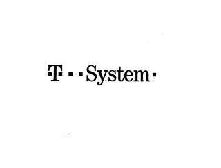 mark for T SYSTEM, trademark #75095185