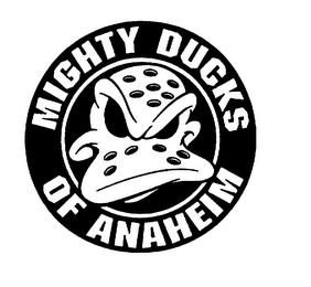 mark for MIGHTY DUCKS OF ANAHEIM, trademark #75101222