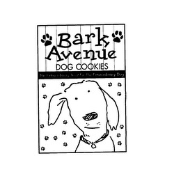mark for BARK AVENUE DOG COOKIES THE EXTRAORDINARY TREAT FOR THE EXTRAORDINARY DOG, trademark #75134186
