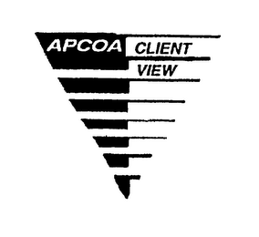 mark for APCOA CLIENT VIEW, trademark #75141168