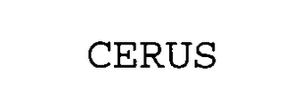 mark for CERUS, trademark #75167994