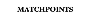 mark for MATCHPOINTS, trademark #75265169