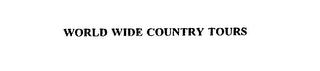 mark for WORLD WIDE COUNTRY TOURS, trademark #75299827