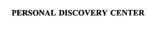 mark for PERSONAL DISCOVERY CENTER, trademark #75379529