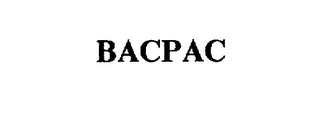 mark for BACPAC, trademark #75393746