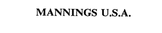 mark for MANNINGS U.S.A., trademark #75397096