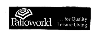mark for PATIOWORLD... FOR QUALITY LEISURE LIVING, trademark #75403157