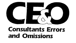 mark for CE&O CONSULTANTS ERRORS AND OMISSIONS, trademark #75403501