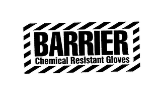 mark for BARRIER CHEMICAL RESISTANT GLOVES, trademark #75413700