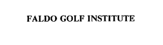 mark for FALDO GOLF INSTITUTE, trademark #75453044