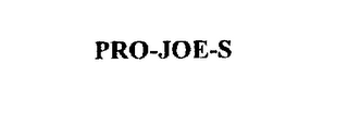 mark for PRO-JOE-S, trademark #75472240