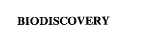 mark for BIODISCOVERY, trademark #75492796