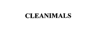 mark for CLEANIMALS, trademark #75502617