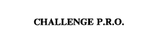 mark for CHALLENGE P.R.O., trademark #75538064