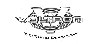 mark for V VOLTRON THE THIRD DIMENSION, trademark #75541249