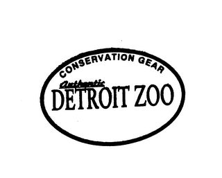 mark for CONSERVATION GEAR AUTHENTIC DETROIT ZOO, trademark #75542135