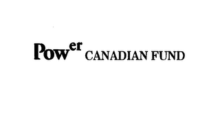 mark for POWER CANADIAN FUND, trademark #75543395