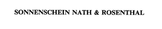 mark for SONNENSCHEIN NATH & ROSENTHAL, trademark #75559774