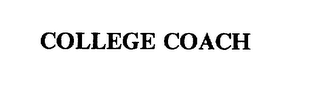 mark for COLLEGE COACH, trademark #75575716