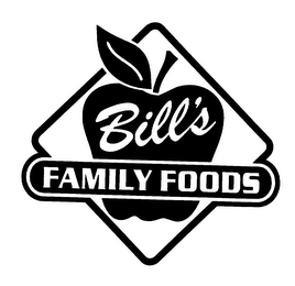 mark for BILL'S FAMILY FOODS, trademark #75583398