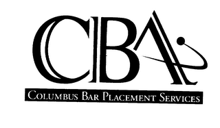 mark for CBA COLUMBUS BAR PLACEMENT SERVICES, trademark #75591088