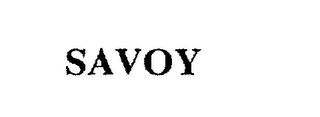 mark for SAVOY, trademark #75606458
