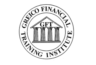 mark for GFT GREICO FINANCIAL TRAINING INSTITUTE, trademark #75613278